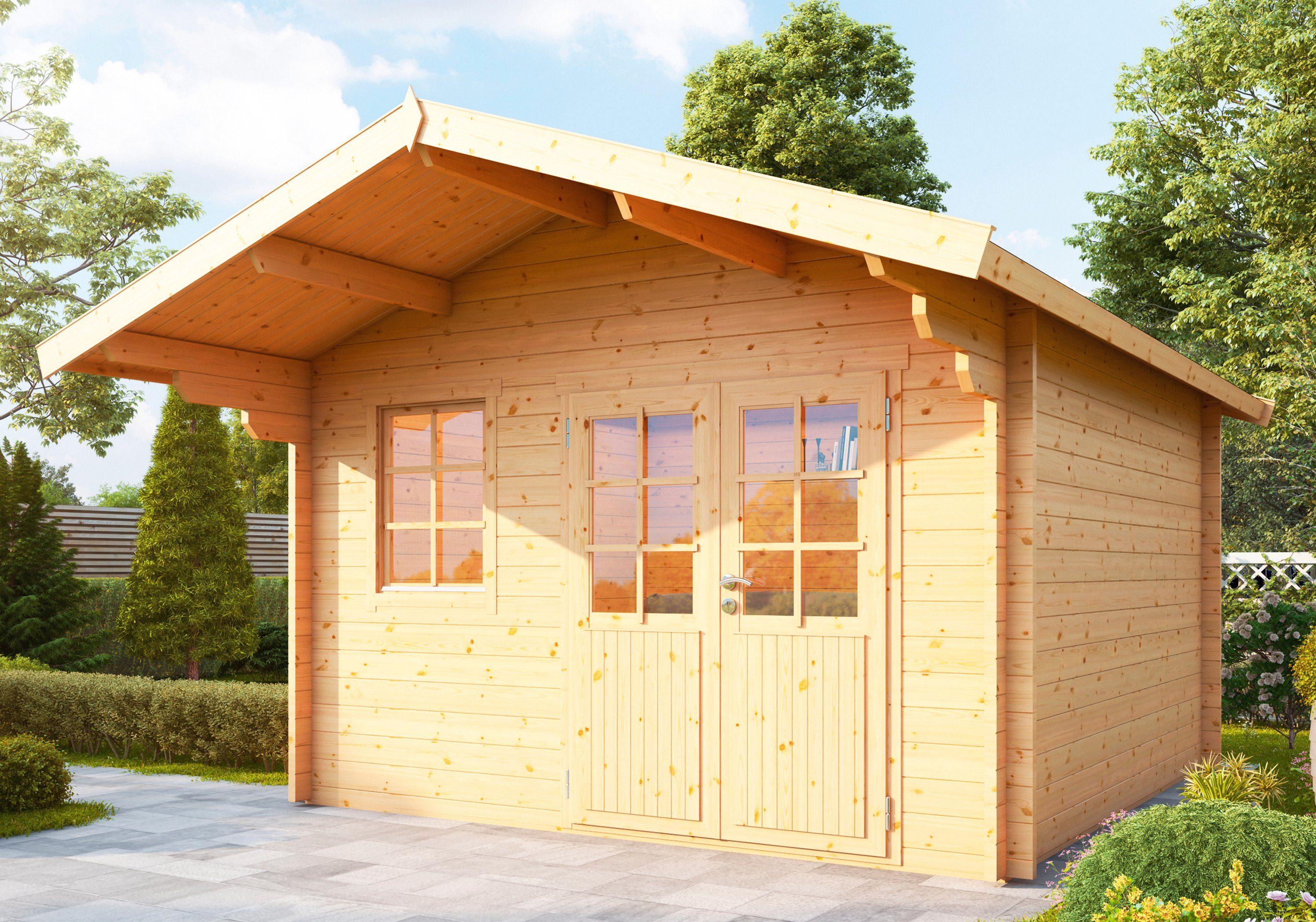 WOLFF Gartenhaus »Lisa 44-A«, BxT: 422x440 cm, inkl. Fußboden