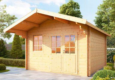 WOLFF FINNHAUS Gartenhaus »Lisa 44-A«, BxT: 422x440 cm, inkl. Fußboden