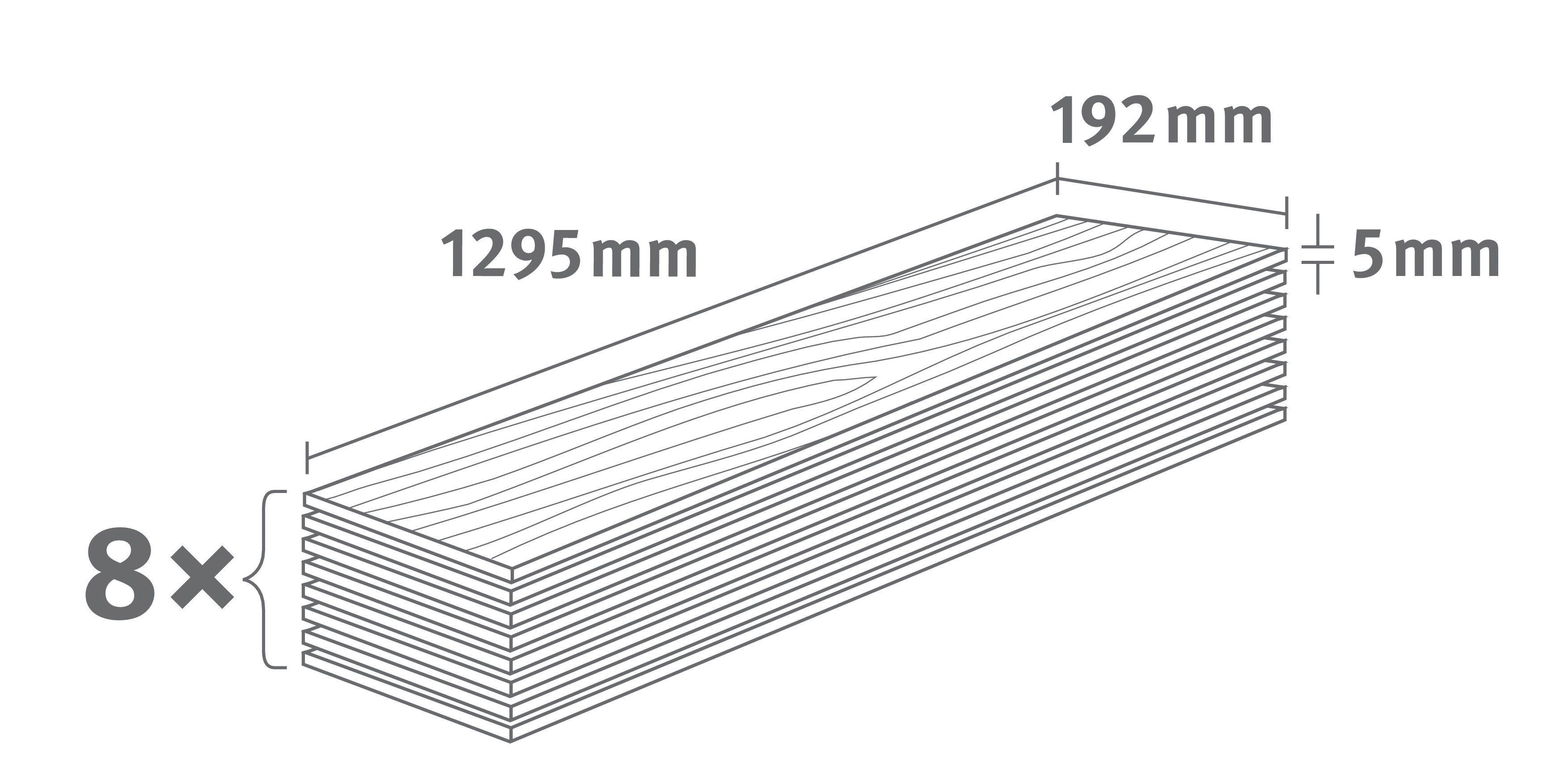 EGGER Designboden »EGGER HOME Design Monfort Eiche weiss«, 1295 x 192 mm, Stärke: 5 mm