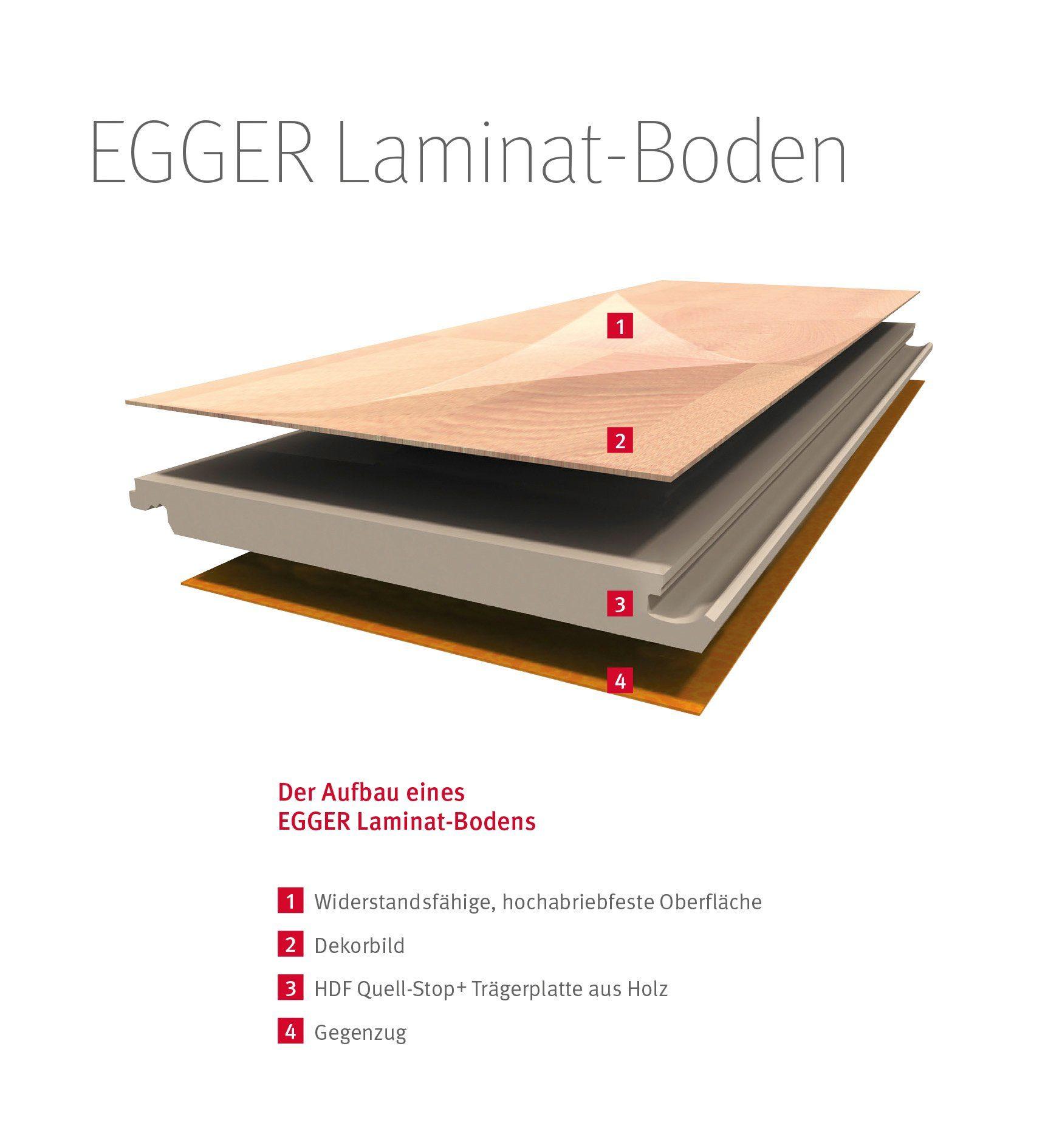 EGGER Laminat »EGGER BASIC Eiche Trilogie milch«, 1292 x 192 mm, Stärke: 7 mm
