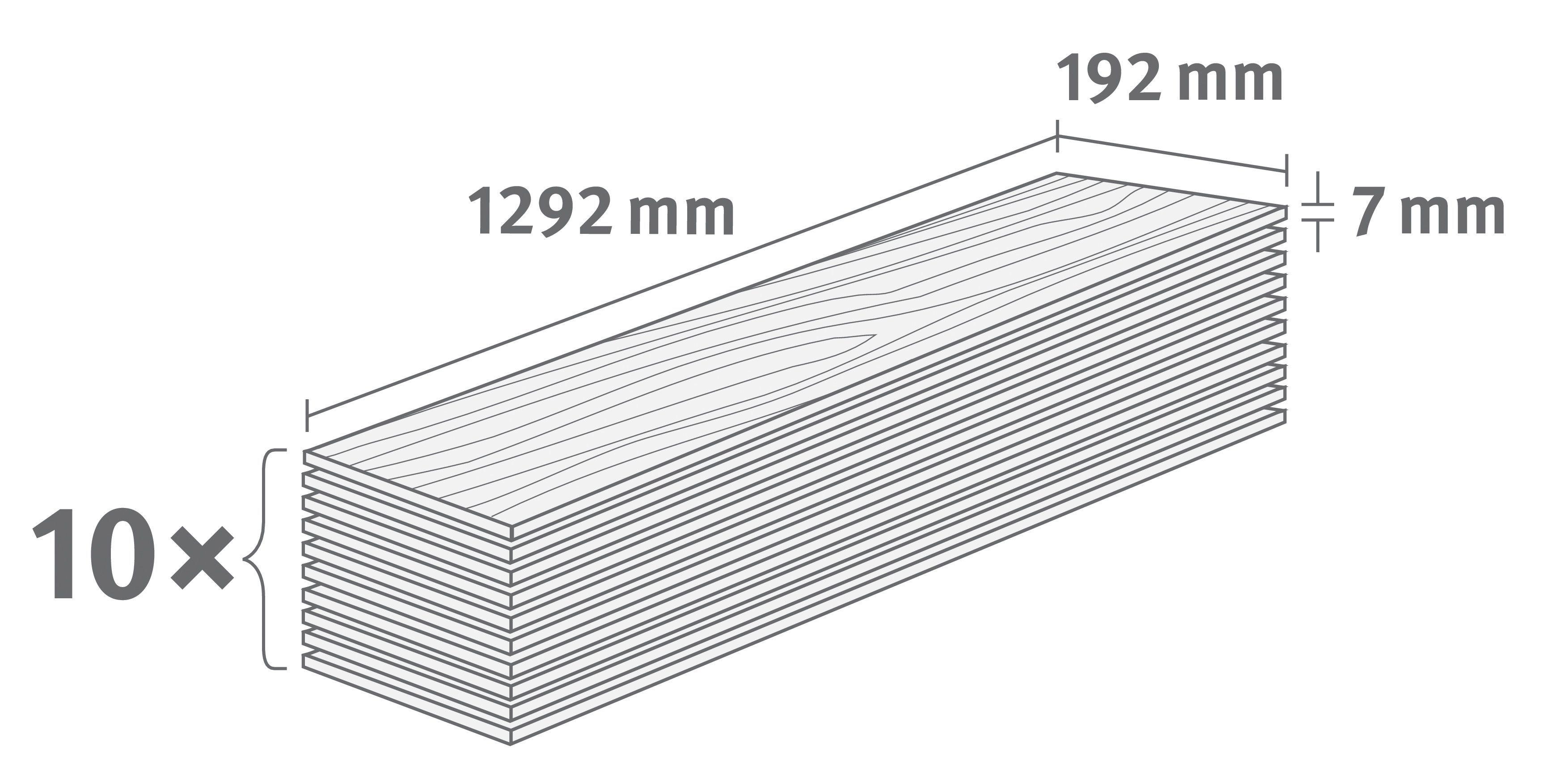EGGER Laminat »EGGER BASIC Kanadische Fichte«, 1292 x 192 mm, Stärke: 7 mm | Baumarkt > Bodenbeläge > Laminat | EGGER