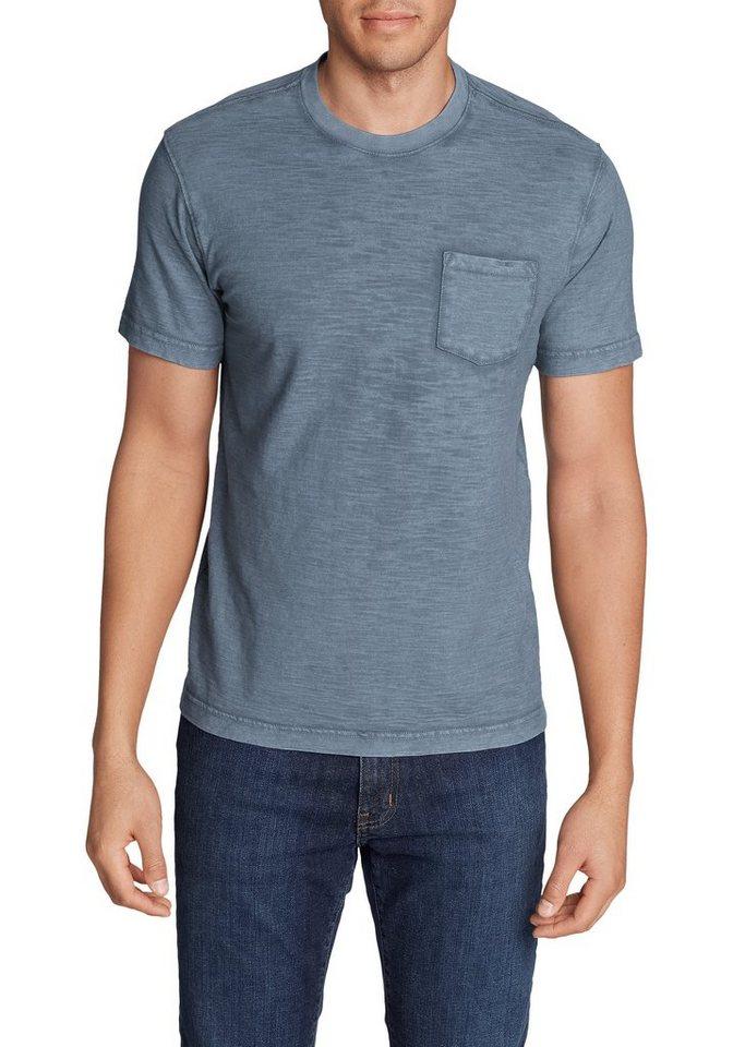eddie bauer -  T-Shirt Legend Wash Slub-Shirt mit Tasche - Kurzarm