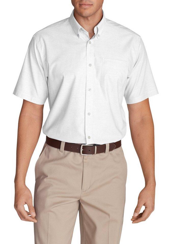 Herren Eddie Bauer Kurzarmhemd Oxfordhemd – Relaxed fit – Kurzarm – uni weiß | 04057682249612