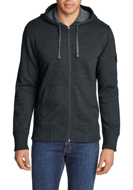 Herren Eddie Bauer Sweatshirt Cascade Sweatshirtjacke mit Kapuze blau   04057682250625