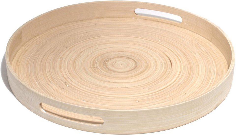franz m ller flechtwaren tablett rund 45 cm bamboo online kaufen otto. Black Bedroom Furniture Sets. Home Design Ideas