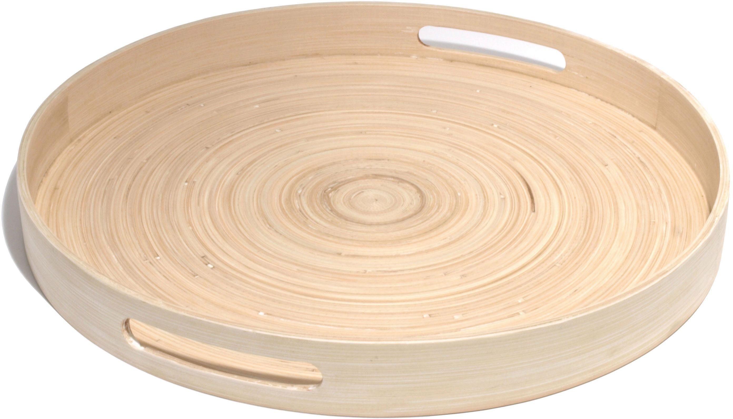 Franz Müller Flechtwaren Tablett, rund, Ø 45 cm, »Bamboo«