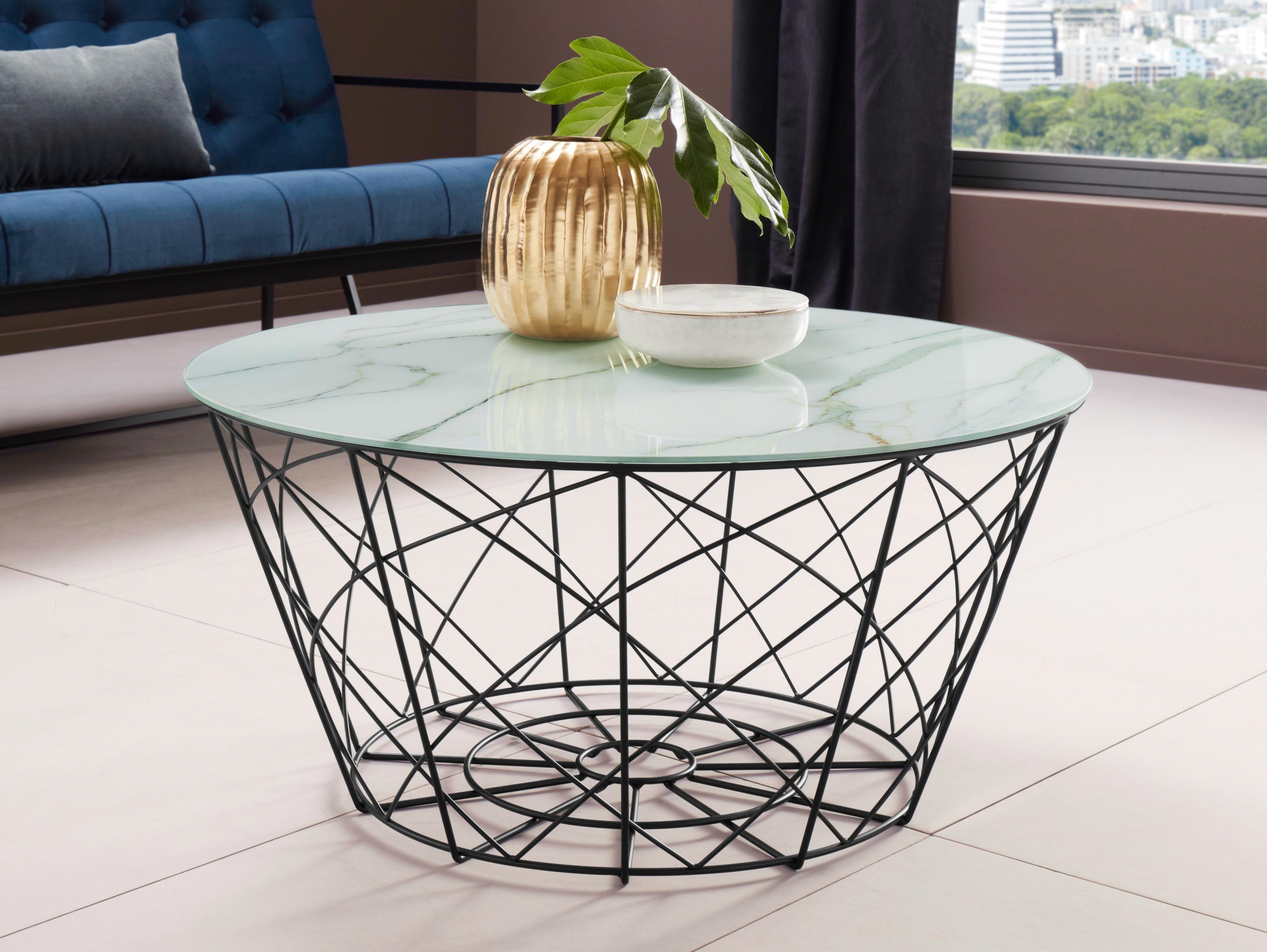 Beistelltische rund preisvergleich die besten angebote for Tischplatte marmoroptik