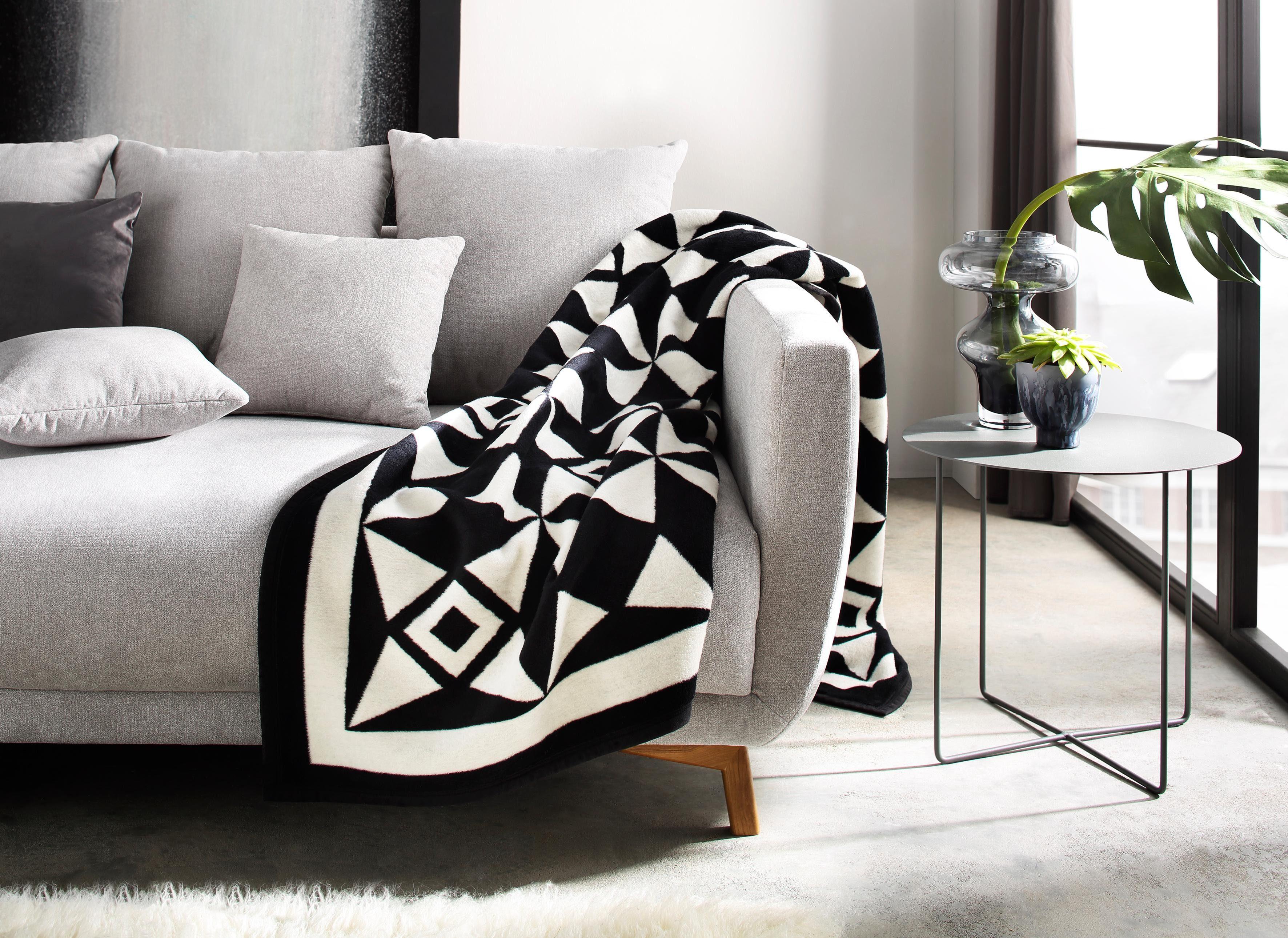 Wohndecke »Lissabon«, Guido Maria Kretschmer Home&Living, hochwertiges Jacquard-Design in Wendeoptik