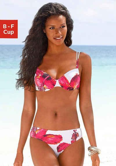 LASCANA Bügel-Bikini mit plakativem Blütenprint