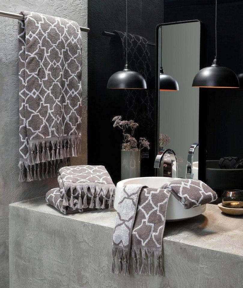 badetuch ellen guido maria kretschmer home living mit fransen online kaufen otto. Black Bedroom Furniture Sets. Home Design Ideas
