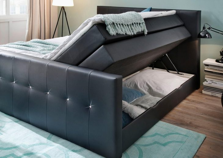Boxspringbett mit Bettkasten