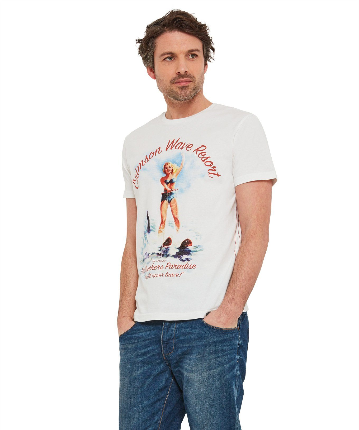 Joe Browns T-Shirt »Joe Browns Herren Crimson-Tide-T-Shirt mit Pin-up-Girl«