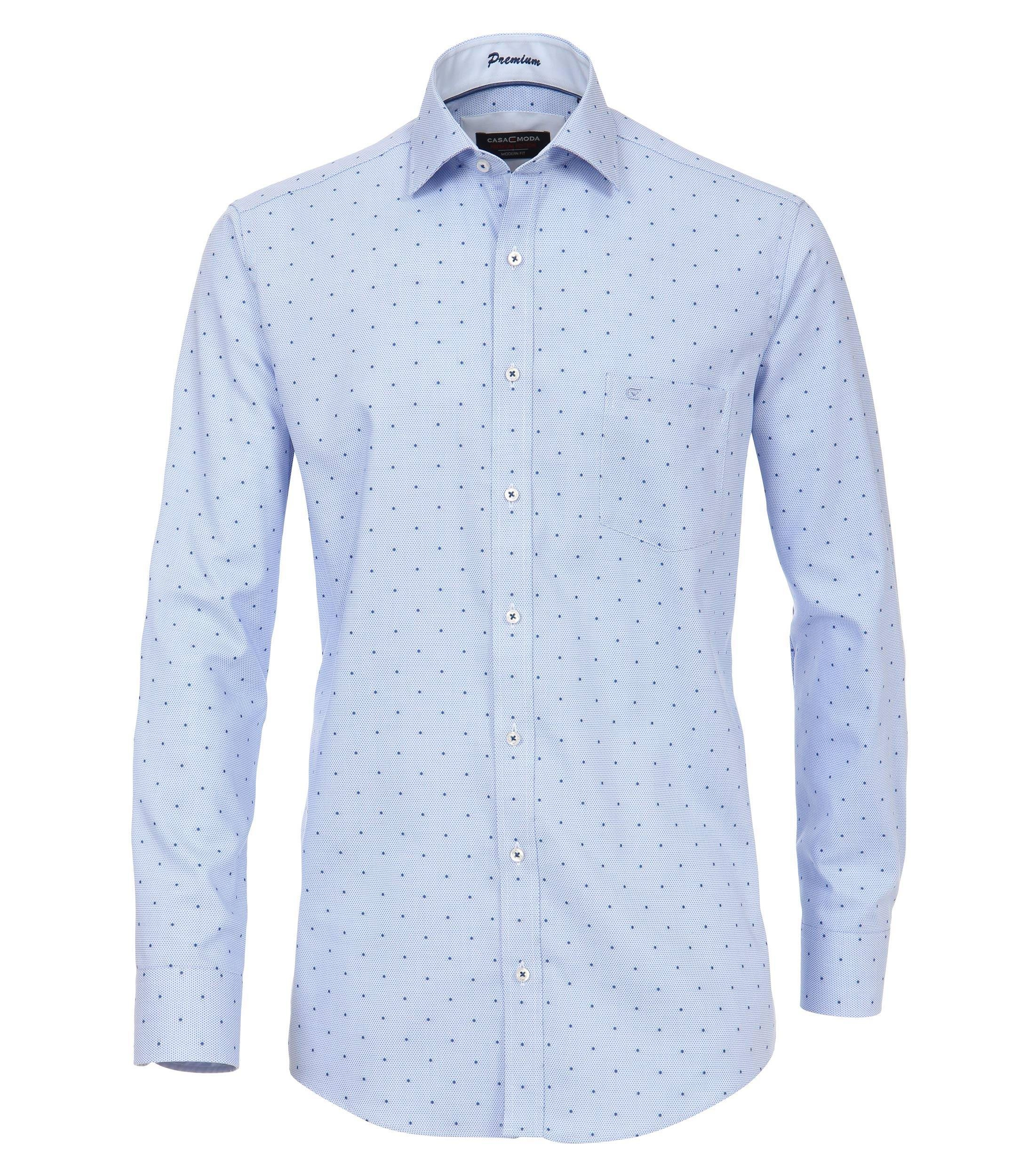 CASAMODA Langarmhemd »Struktur Hemd unifarben«