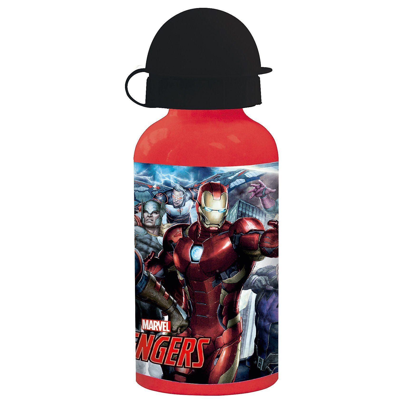 p:os Alu-Trinkflasche Avengers, 400 ml