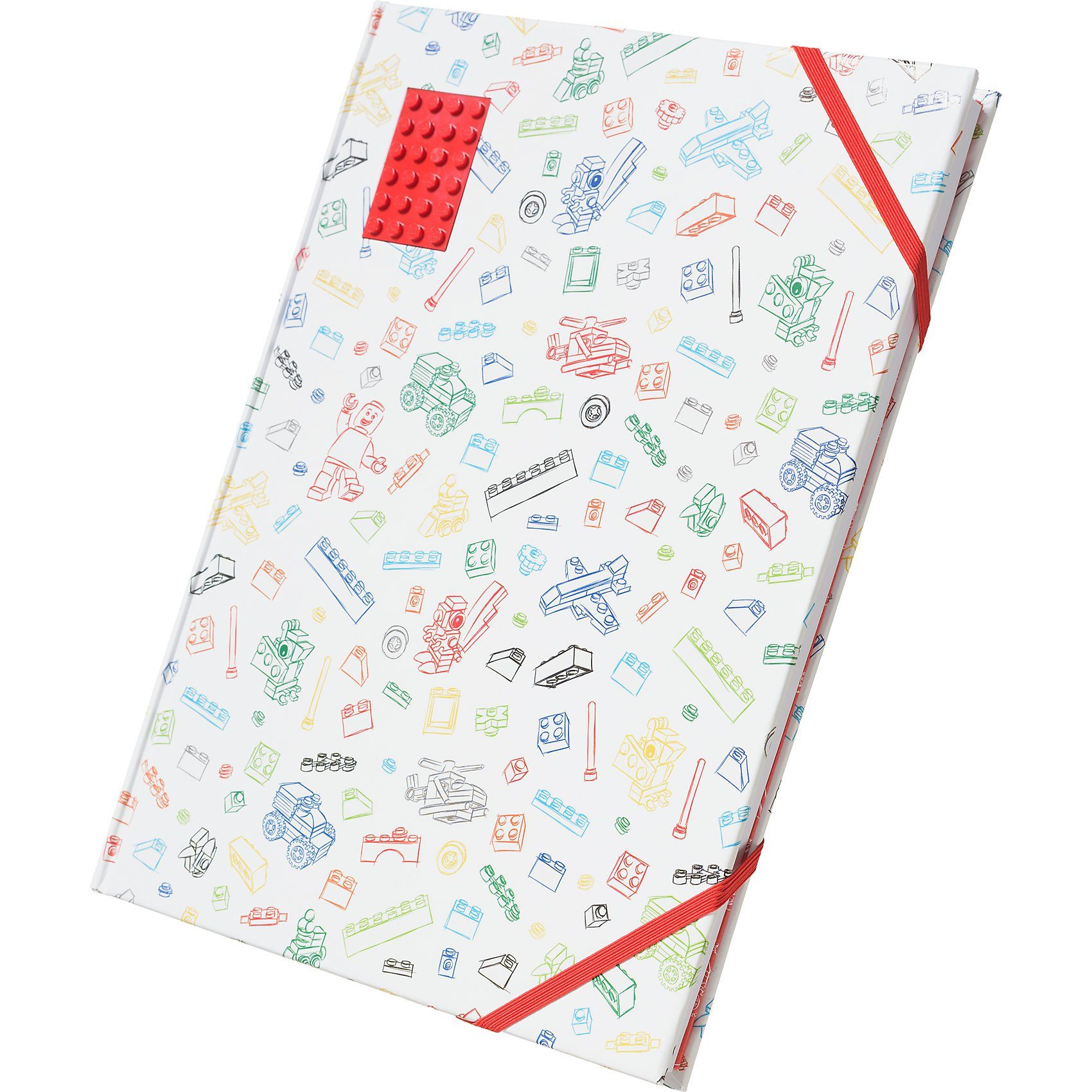 LEGO ® Skizzenbuch rot