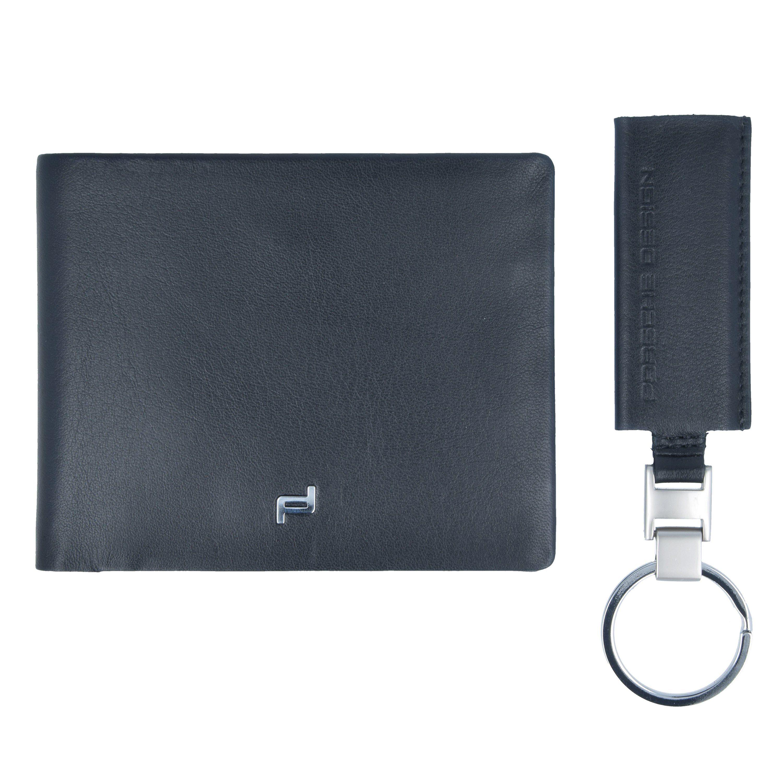 PORSCHE Design Touch Geldbörse und Schlüsselanhänger Leder 11 cm