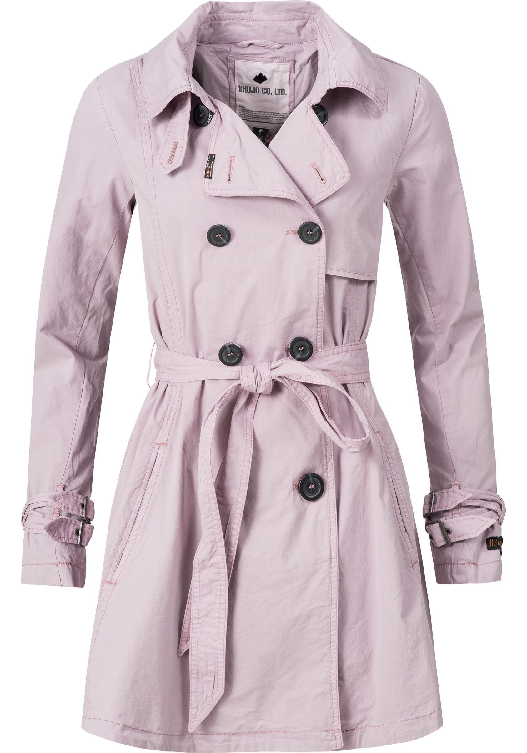 khujo Trenchcoat »YM-Merita«, stylischer Übergangsmantel mit edler zweireihigen Knopfleiste   Bekleidung > Mäntel > Trenchcoats   khujo
