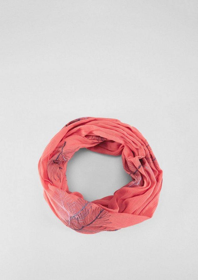 s.Oliver RED LABEL Loop mit Blätter-Stickerei - Preisvergleich