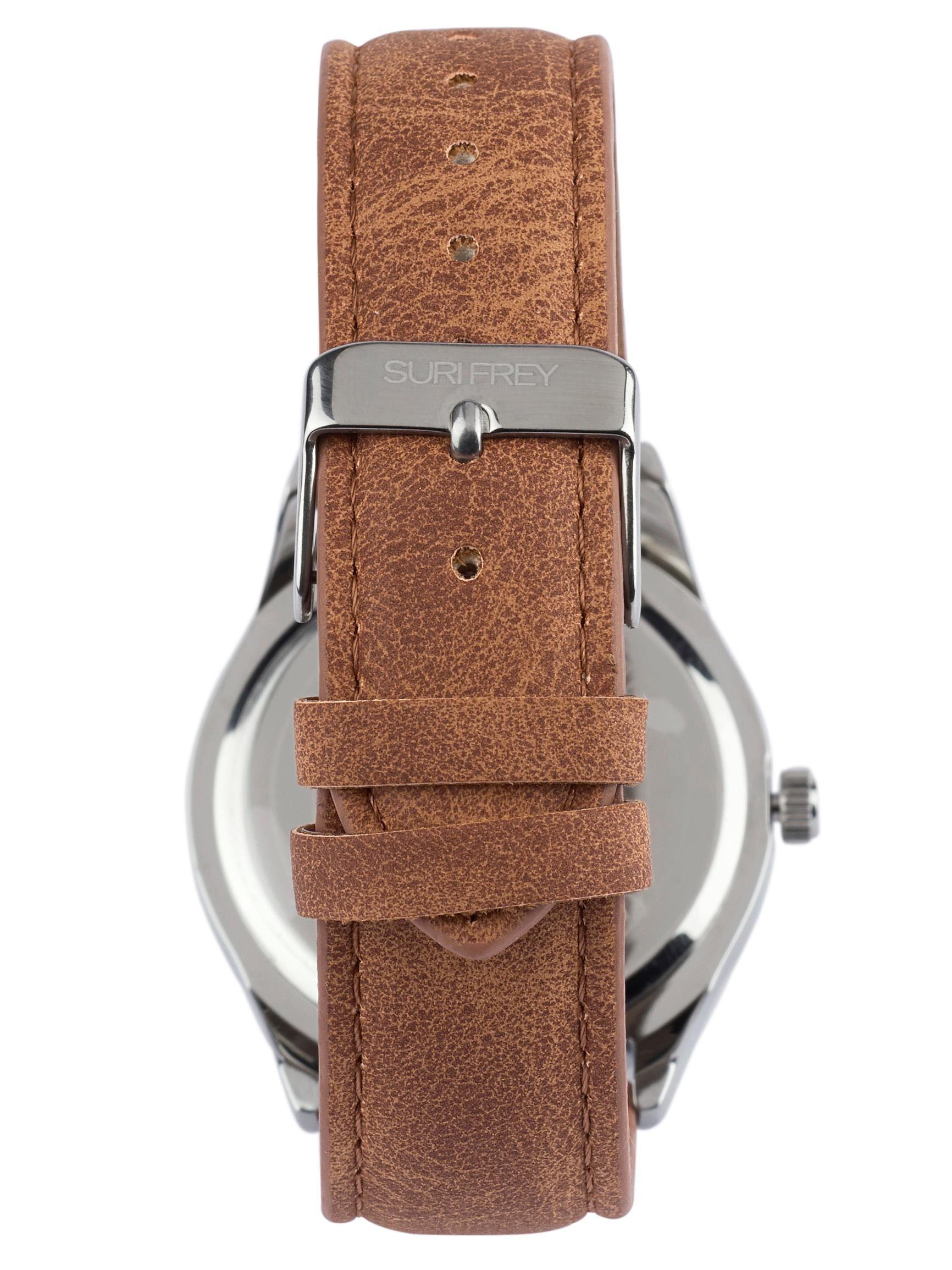 Suri Frey Armbanduhr mit Glitzersteinen