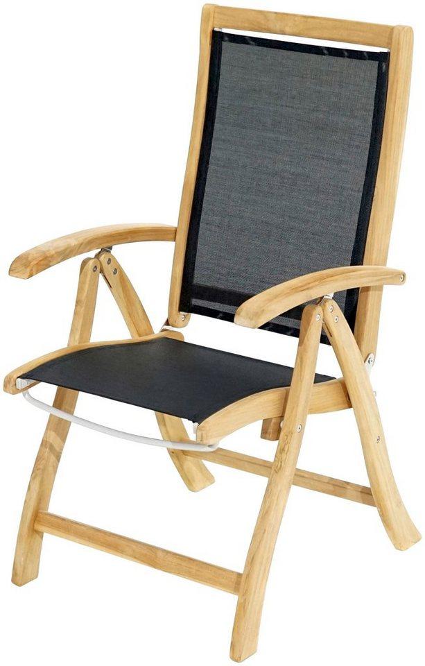 Teakholz gartenmöbel klappbar  PLOSS Gartenstuhl »Fairchild«, Teak/Textil, klappbar online kaufen ...