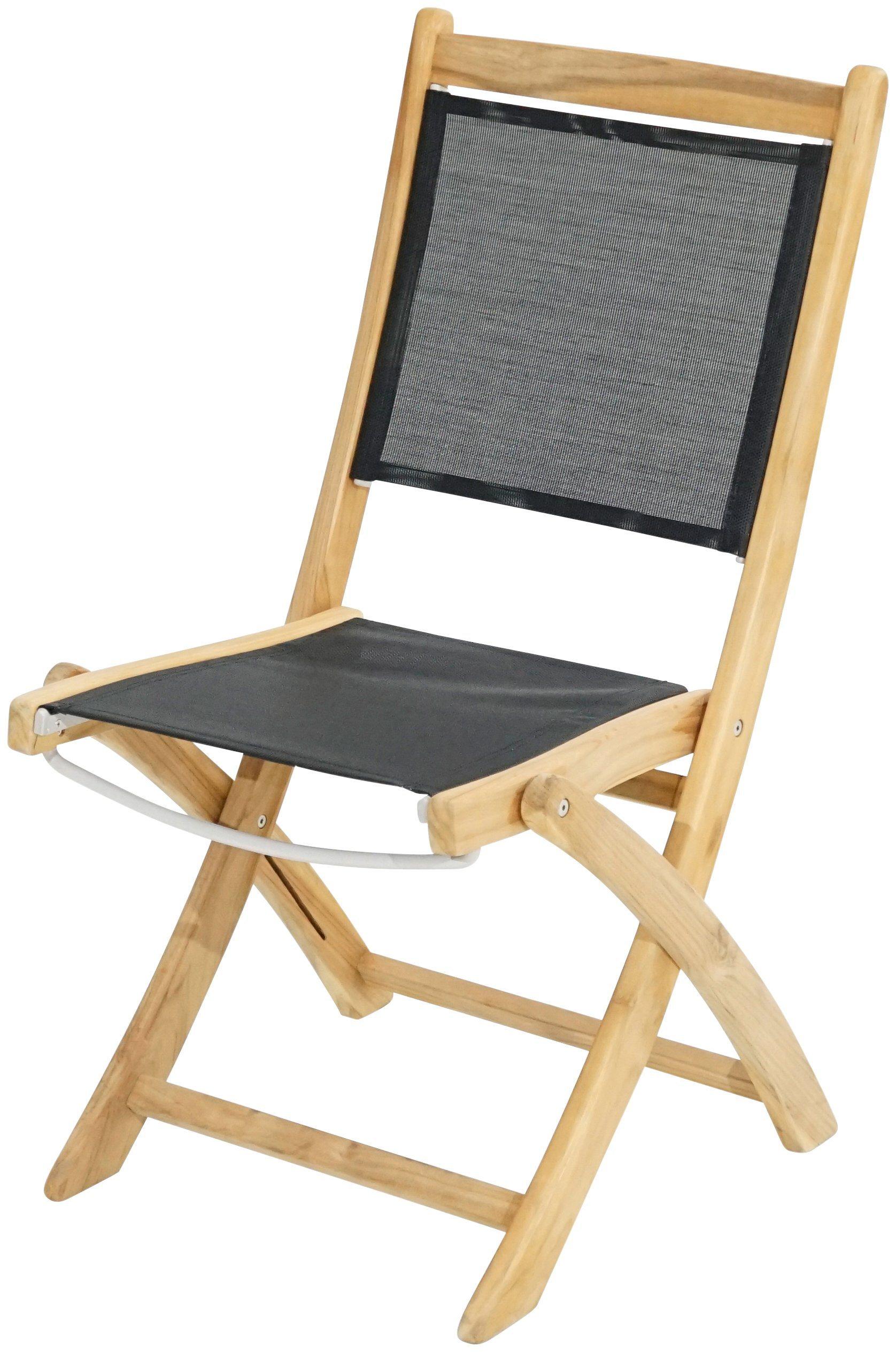 PLOSS Gartenstuhl »Fairchild«, Teak/Textil, Klappbar