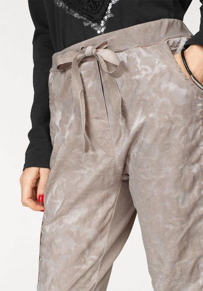 ZABAIONE Jogger Pants »INES« mit Strukturmuster