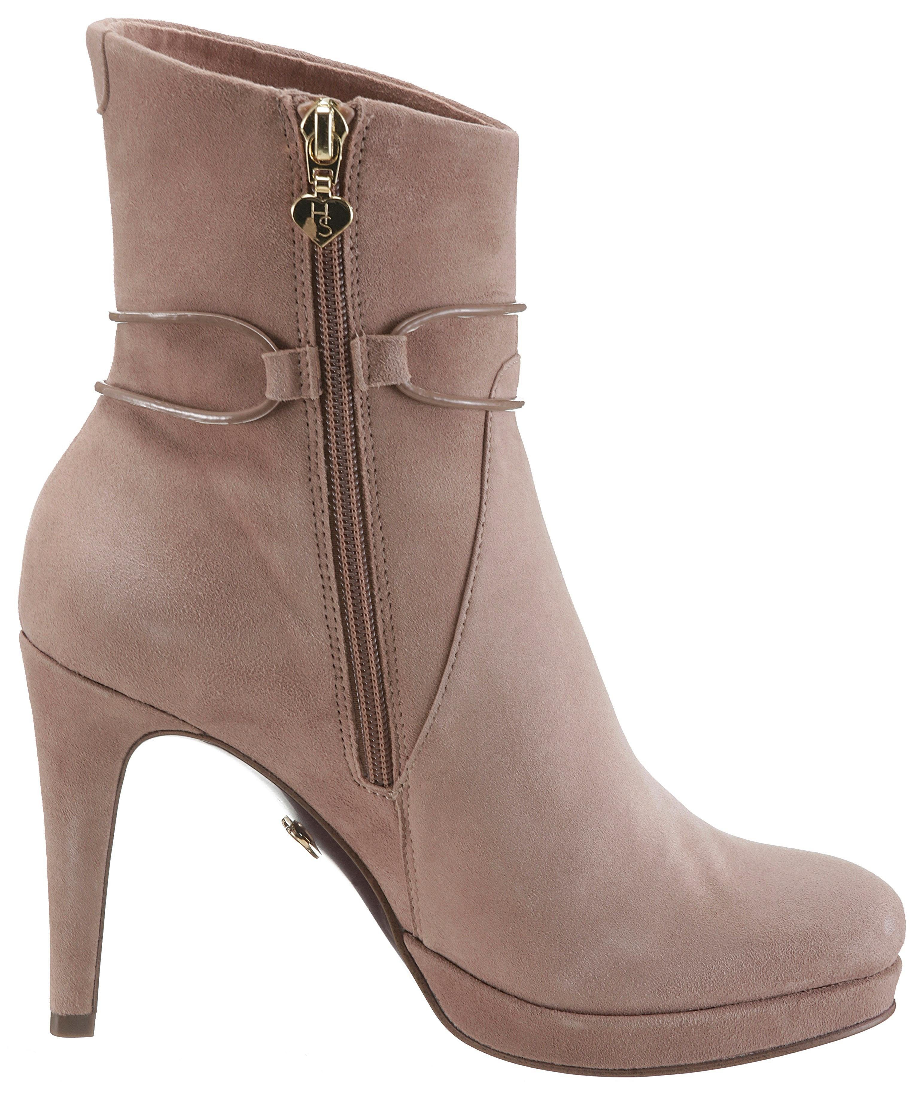 Mode &7710 Tamaris »Heart goldfarbenen & Sole« High-Heel-Stiefelette mit goldfarbenen »Heart Schmuckelement b7c4e3
