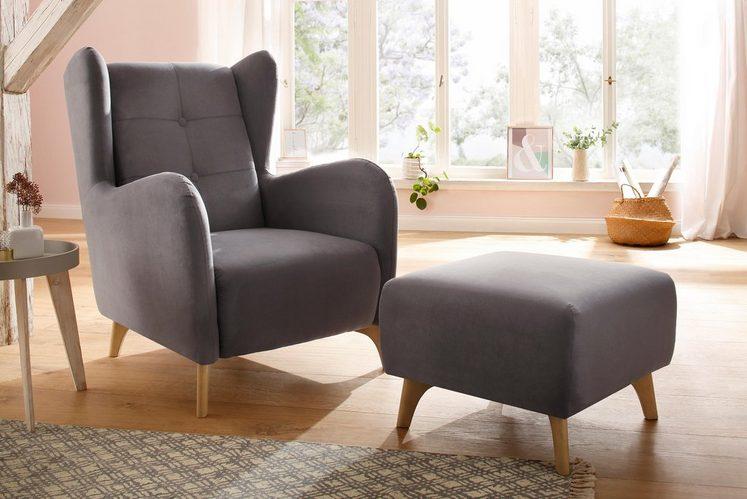 Home affaire Sessel »Stadil«, wahlweise mit und ohne Hocker