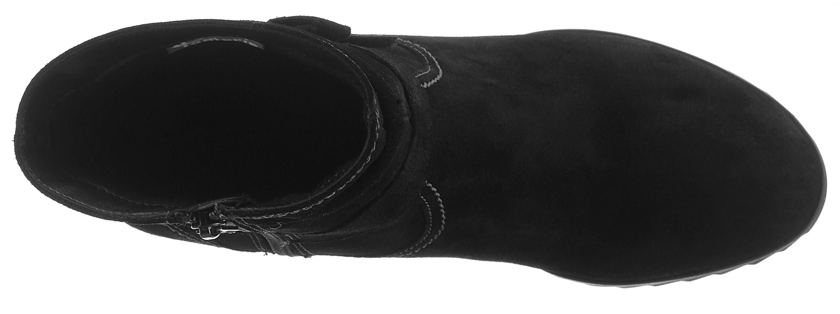 Tamaris Valentina Stiefelette, mit Zierschleife  schwarz