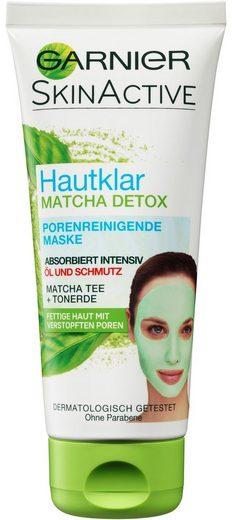 GARNIER Gesichtsmaske »Hautklar Matcha Detox«, Porenreinigend