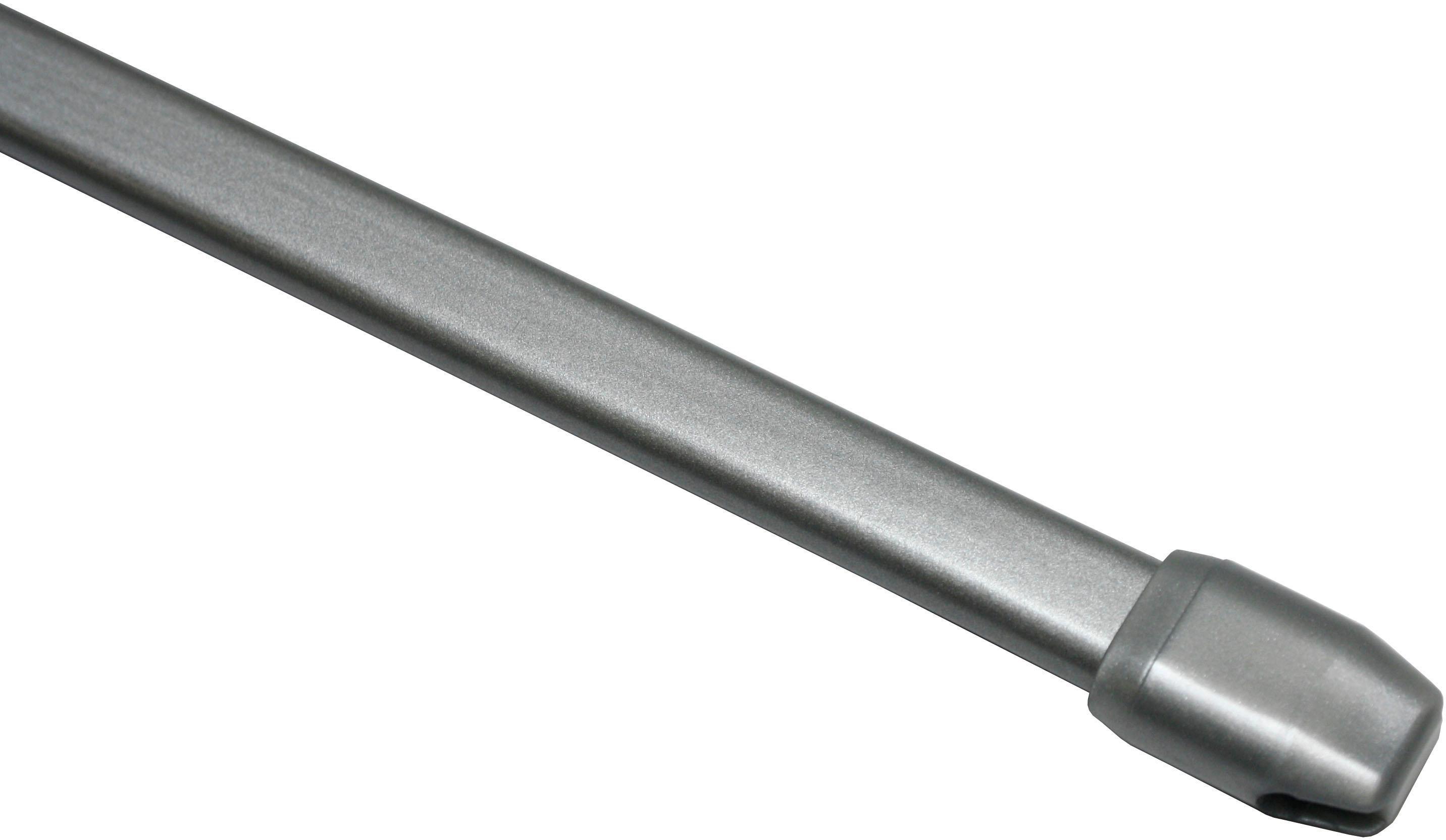 Scheibenstange, Gardinia, »Vitragestange flachoval 11 mm«, ausziehbar, ohne Bohren, 11 mm | Heimtextilien > Gardinen und Vorhänge > Gardinenstangen | Metall - Kunststoff | GARDINIA