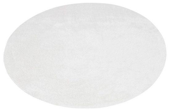 Hochflor-Teppich »Mikro Soft Ideal«, my home, rund, Höhe 30 mm, Besonders weich durch Microfaser