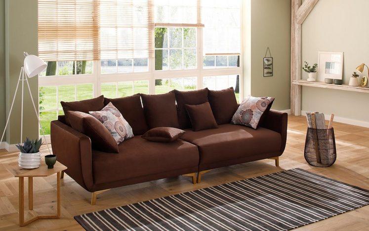 Home affaire Big-Sofa »Tilda«, mit losen Rückenkissen, Zierkissen, im skandinavischem Design