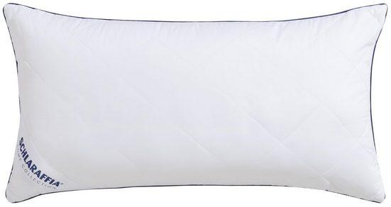 Microfaserkissen, »Relax«, Schlaraffia, Bezug: 100% Baumwolle, (1-tlg), insbesondere für hygienebewusste Schläfer geeignet