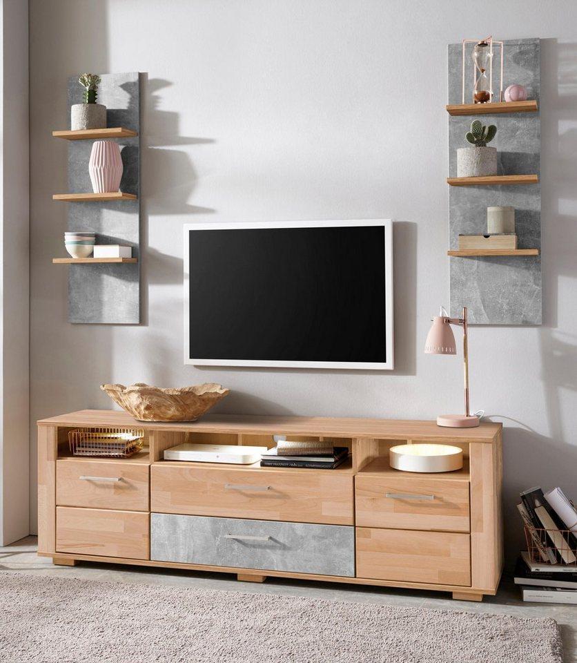 wohnwand turin 3 tlg fsc zertifizierter holzwerkstoff online kaufen otto. Black Bedroom Furniture Sets. Home Design Ideas