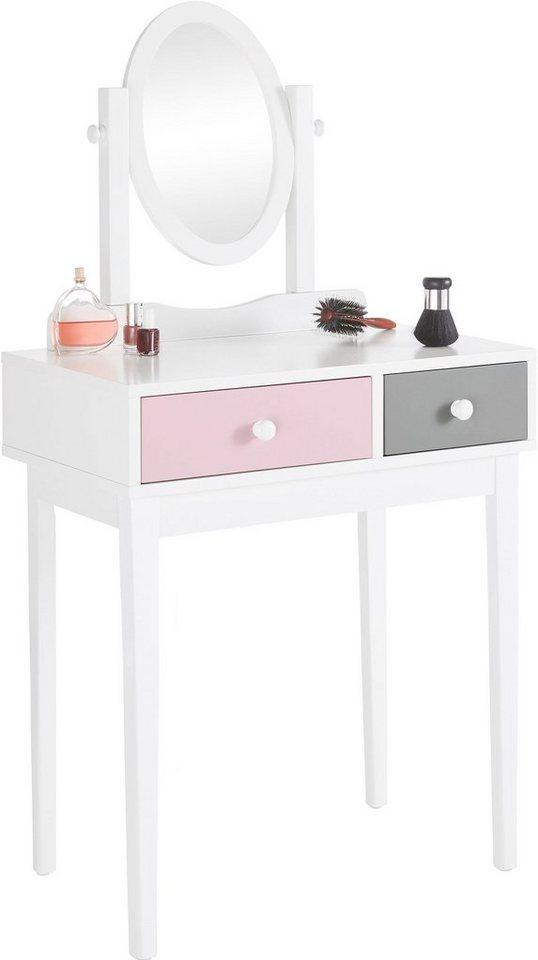 home affaire schminktisch mit spiegel breite 70 cm online kaufen otto. Black Bedroom Furniture Sets. Home Design Ideas