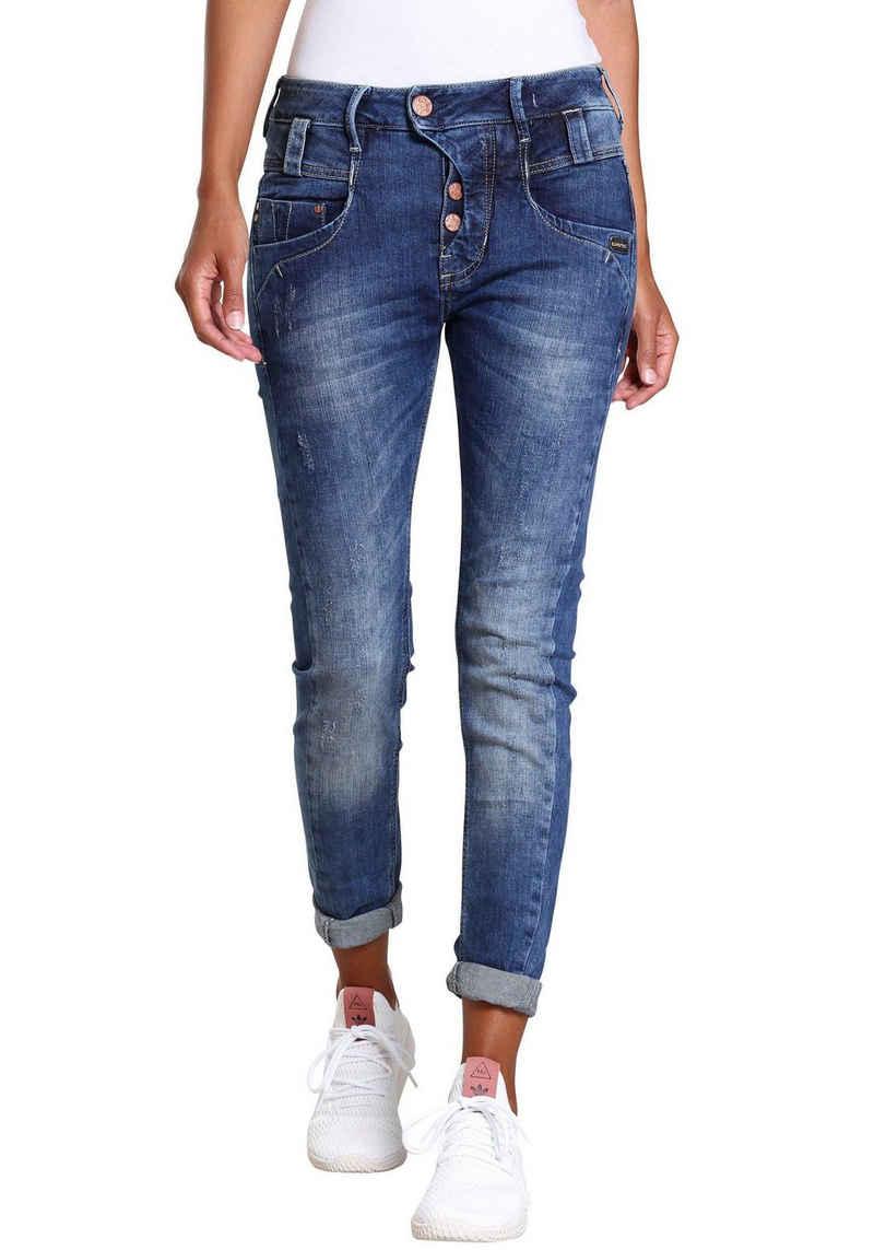 GANG Slim-fit-Jeans »MARGE« mit besonderem 4-Knopf-Verschluss