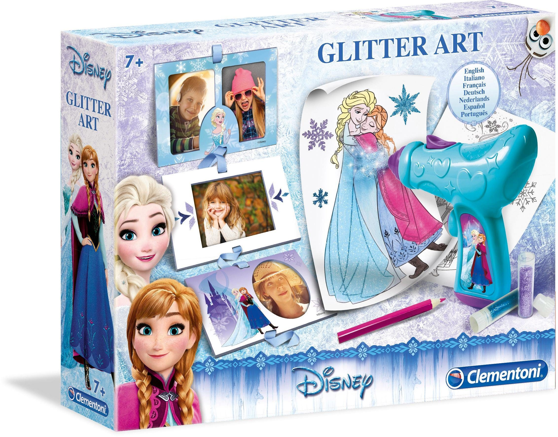 Clementoni Kreativset, »Disney Frozen Glitter Spray Art«