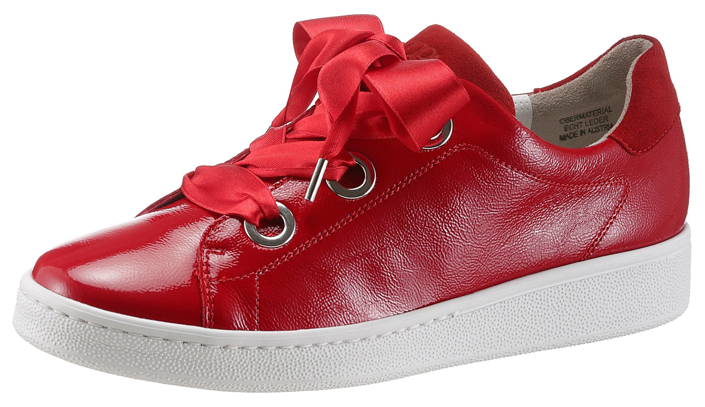 Paul Green Sneaker, mit auffälliger Schnürung, rot, rot