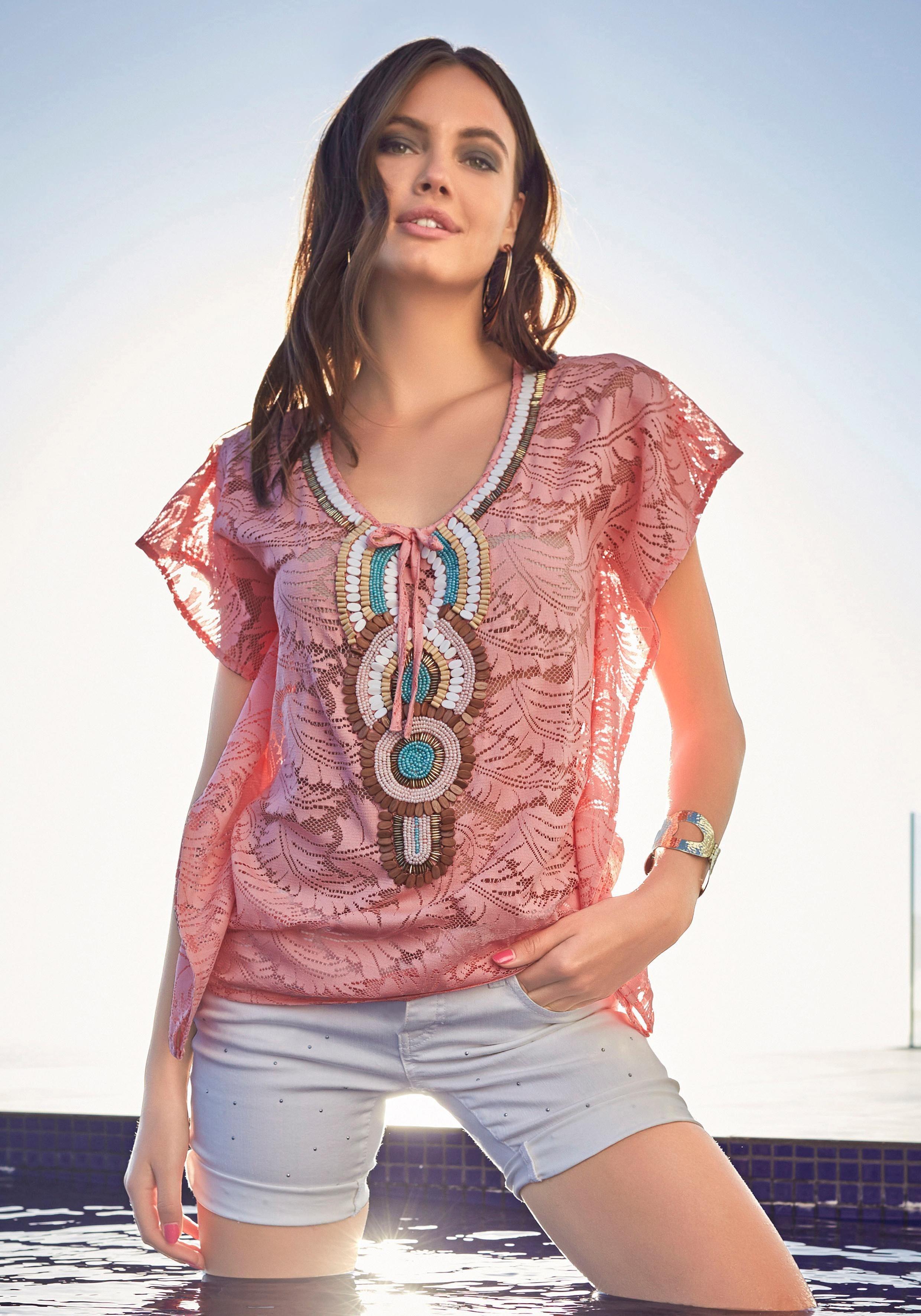 Melrose Tunika, aus Spitze mit großer Applikation | Bekleidung > Tuniken > Sonstige Tuniken | Melrose