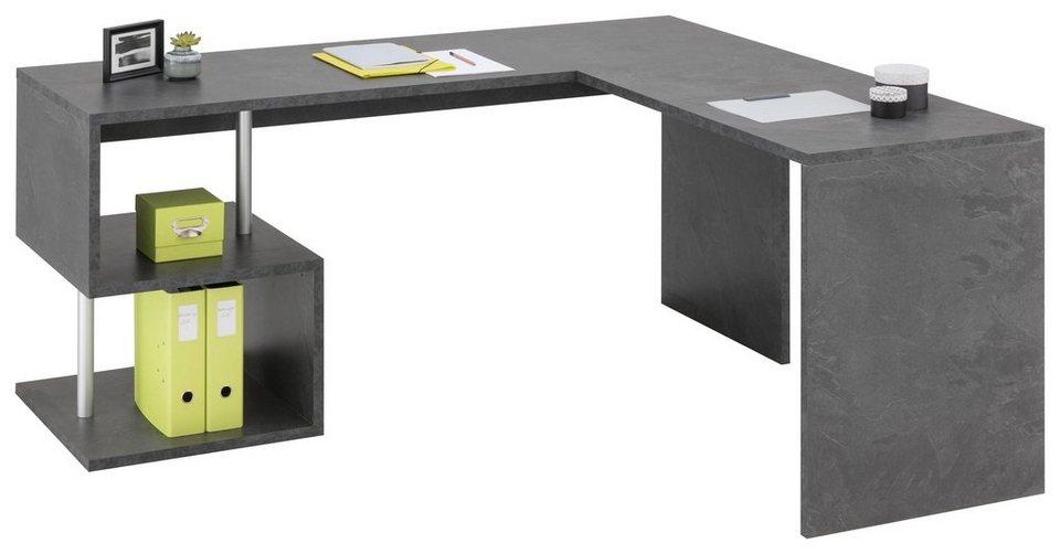 Tecnos Eck-Schreibtisch »Esse«, Maße (B/T/H): 180x160/60