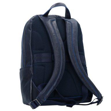 Cm Laptopfach Business Rucksack Square Leder Blue 39 Piquadro FqYZ0pwq