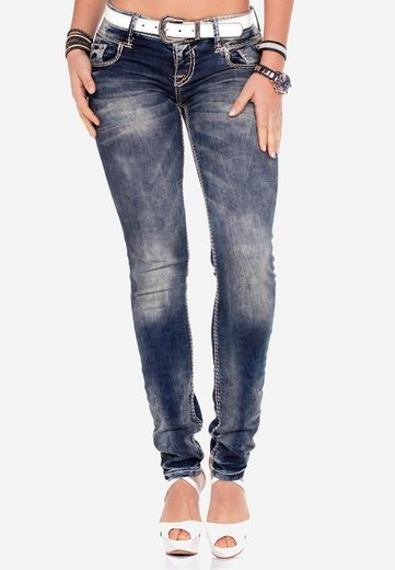 Cipo & Baxx Slim-fit-Jeans »Valley« mit niedriger Taille in Straight Fit
