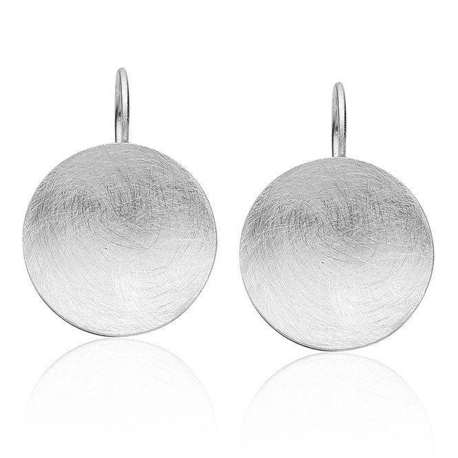 Nenalina Paar Ohrhänger, kunstvoll gesbürstete Oberfläche