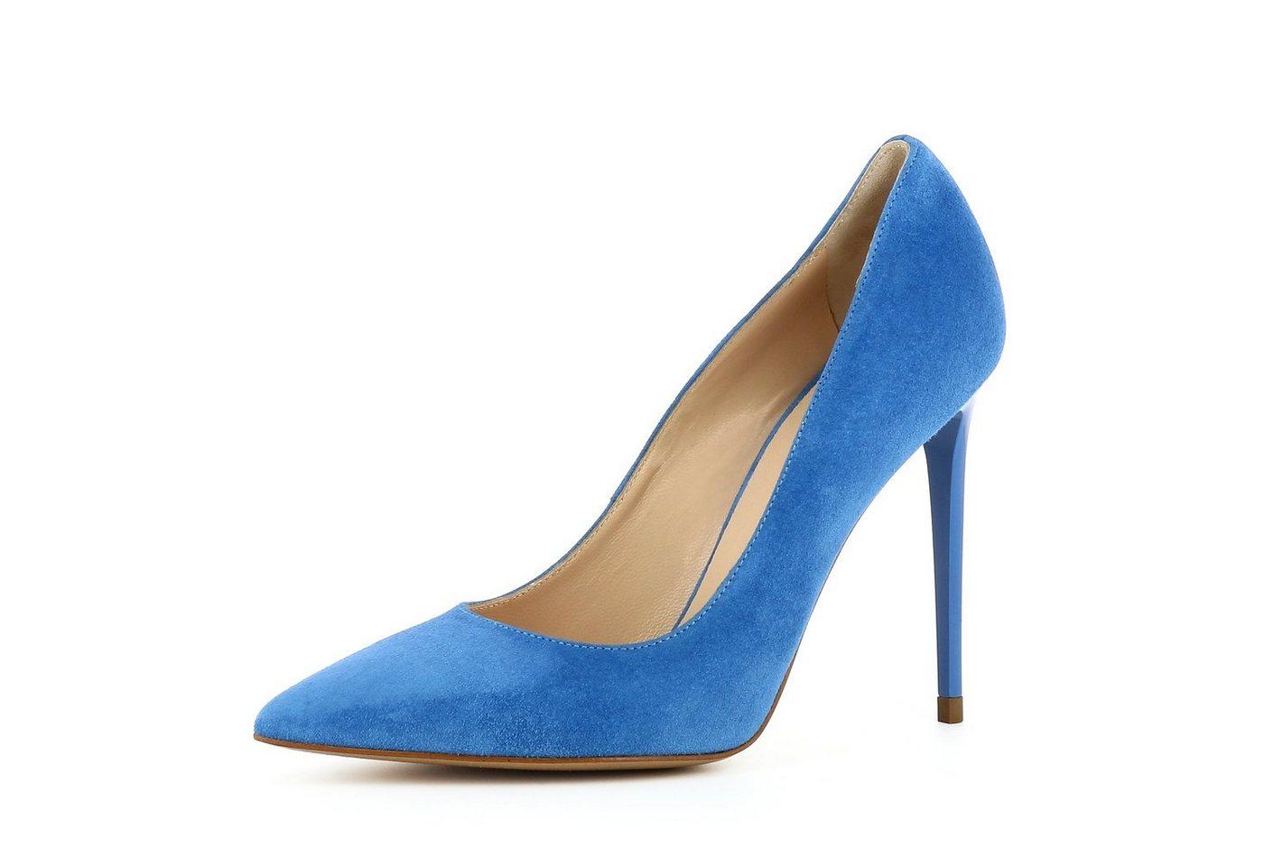 Evita »ALINA« High-Heel-Pumps | Schuhe > High Heels > High Heel Pumps | Blau | Leder | Evita