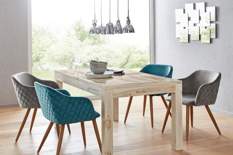 Heine Home Stuhl 2er Set Trendiger Bezug In Samtoptik Online Kaufen