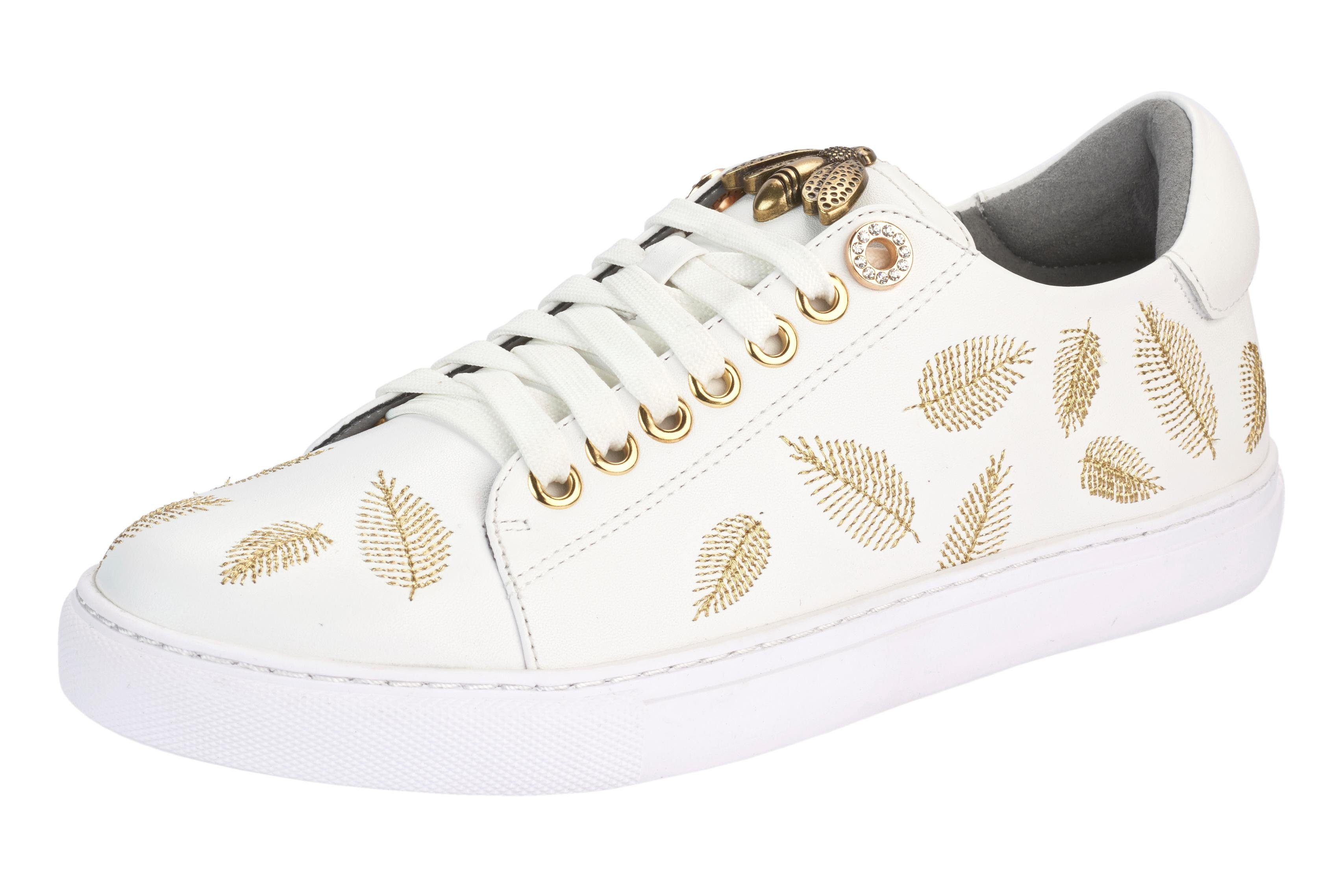 XYXYX Sneaker mit Stickerrei online kaufen  weiß#ft5_slash#goldfarben
