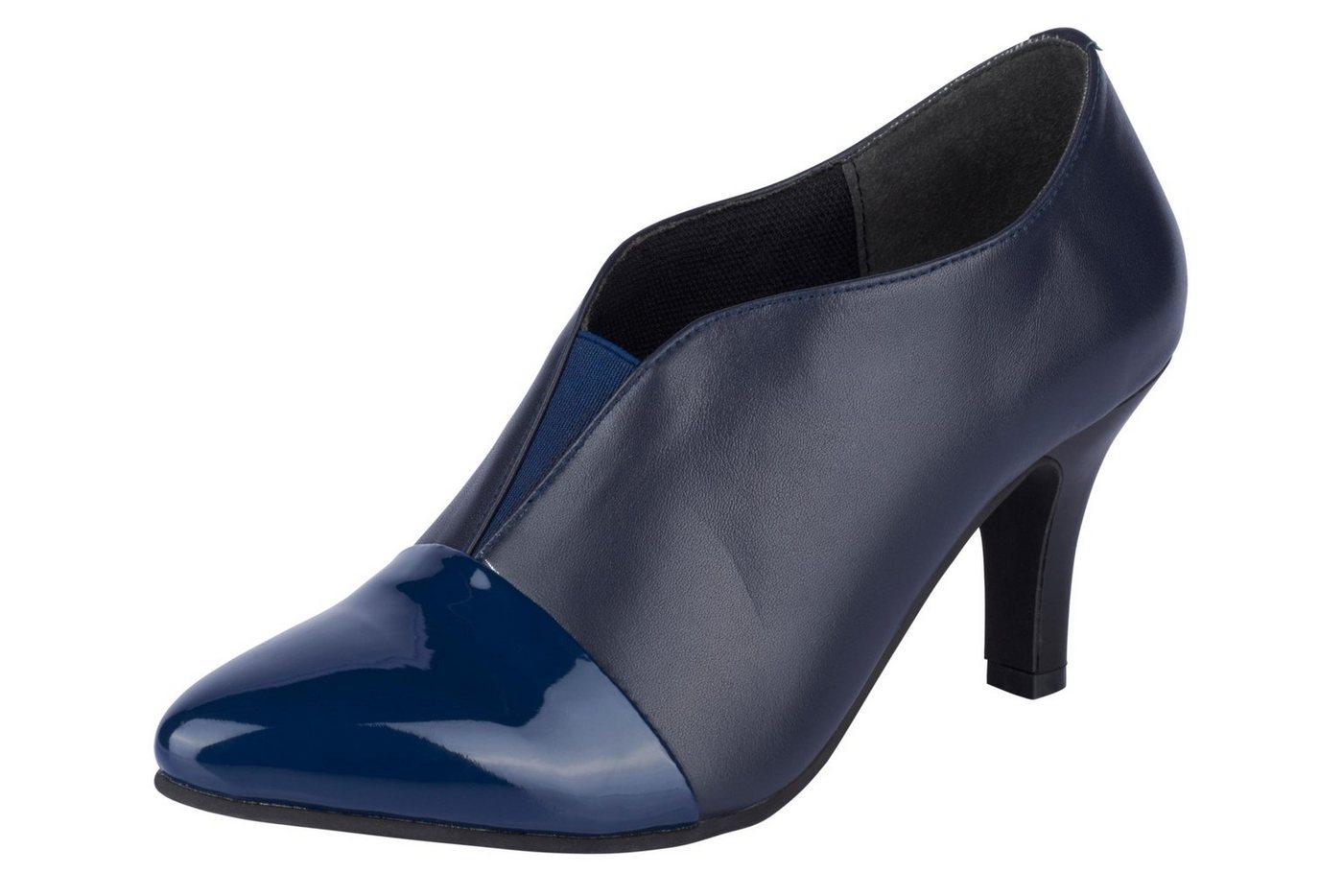 Andrea Conti Hochfrontpumps im Materialmix | Schuhe > Pumps > Hochfrontpumps | Blau | Leder - Ca | Andrea Conti