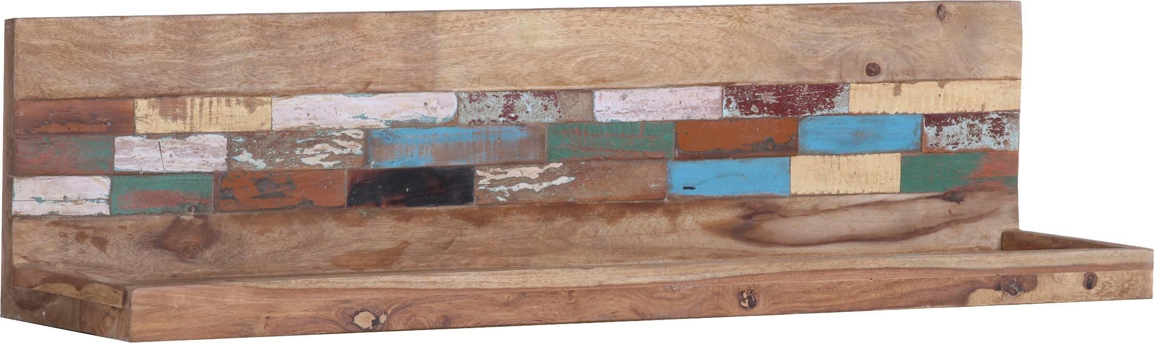 Wandboard »Patchwork« aus massivem Sheesham Holz