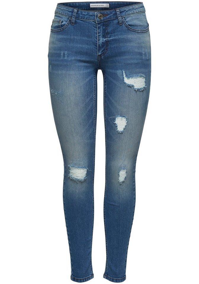 28d23e0cfdc5f4 JACQUELINE de YONG Skinny-fit-Jeans »MAGIC« mit Destroyed-Effekten ...